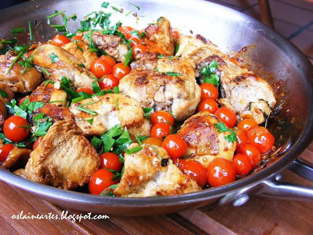 Frango com Tomate Cereja
