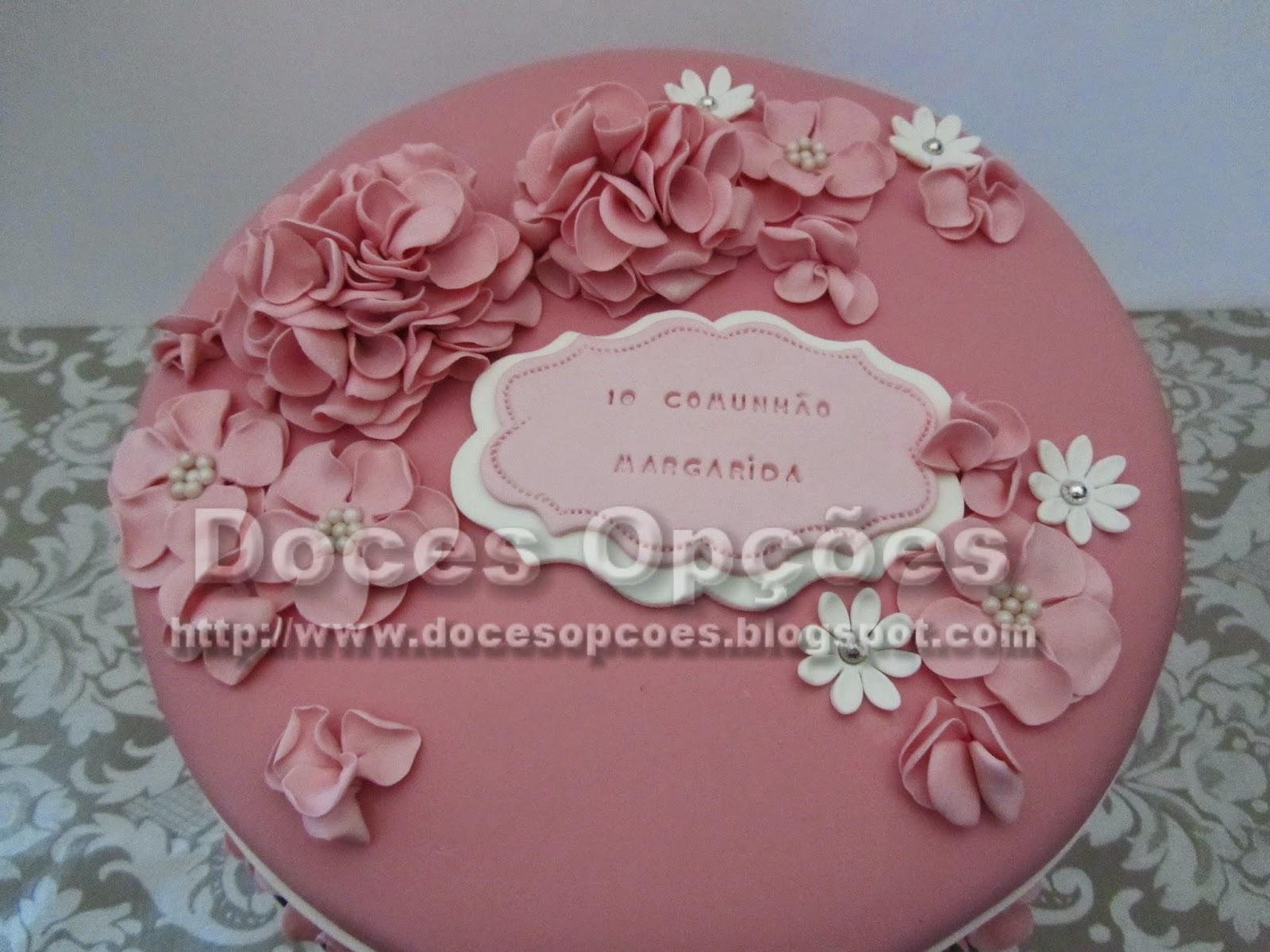 bolo decorado primeira comunhão