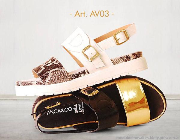 Sandalias 2015 Anca & Co. Moda y Tendencias en Buenos Aires Blog. Moda Argentina.