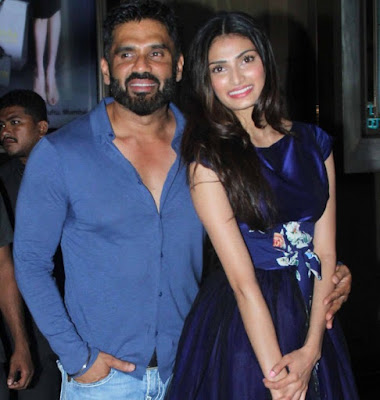 Sunil shetty and Athiya Shetty