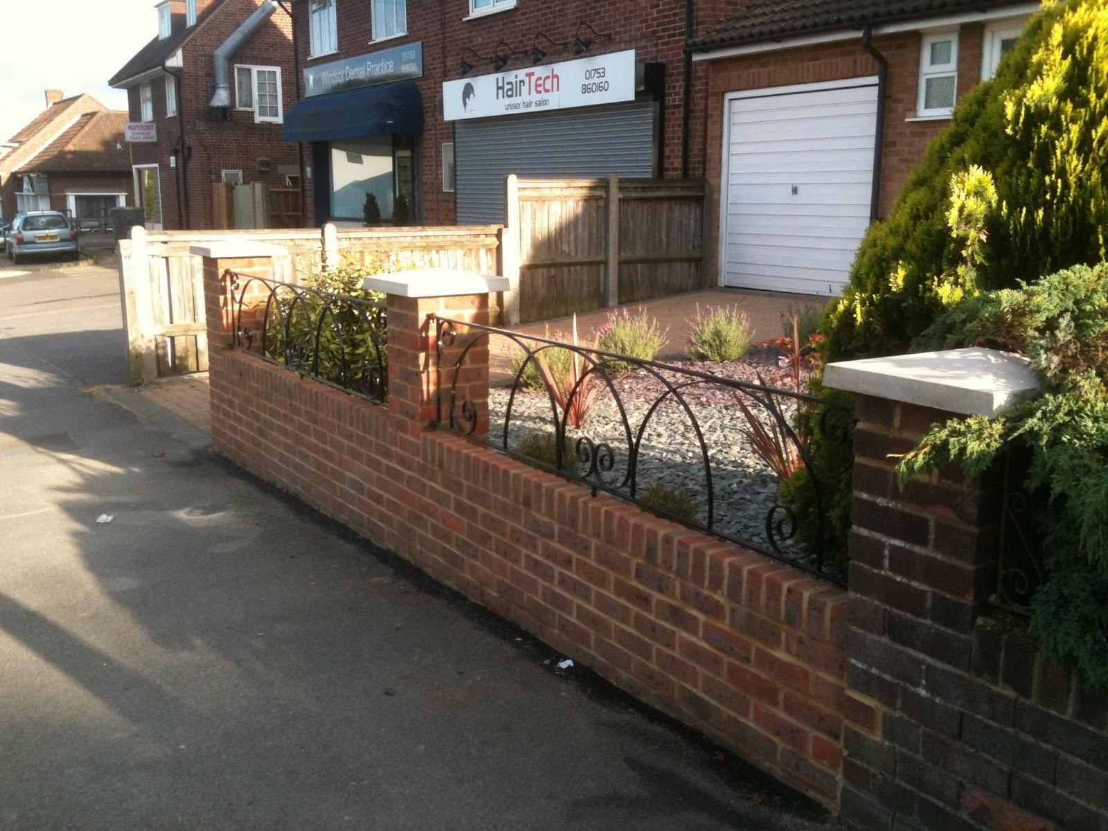 Goodger design associates news front garden for 97 clewer for Brick wall garden designs