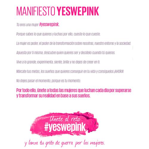 Reto #YesWePink de Maybelline