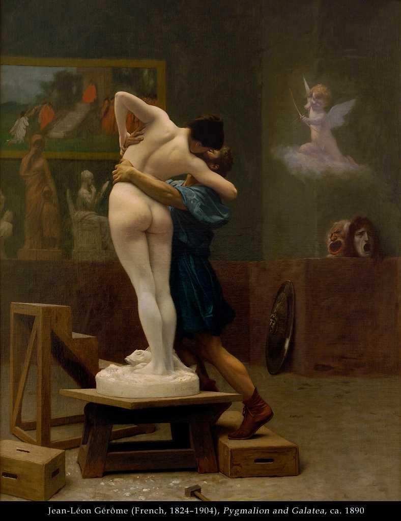 fransk kunstner karikerede figure