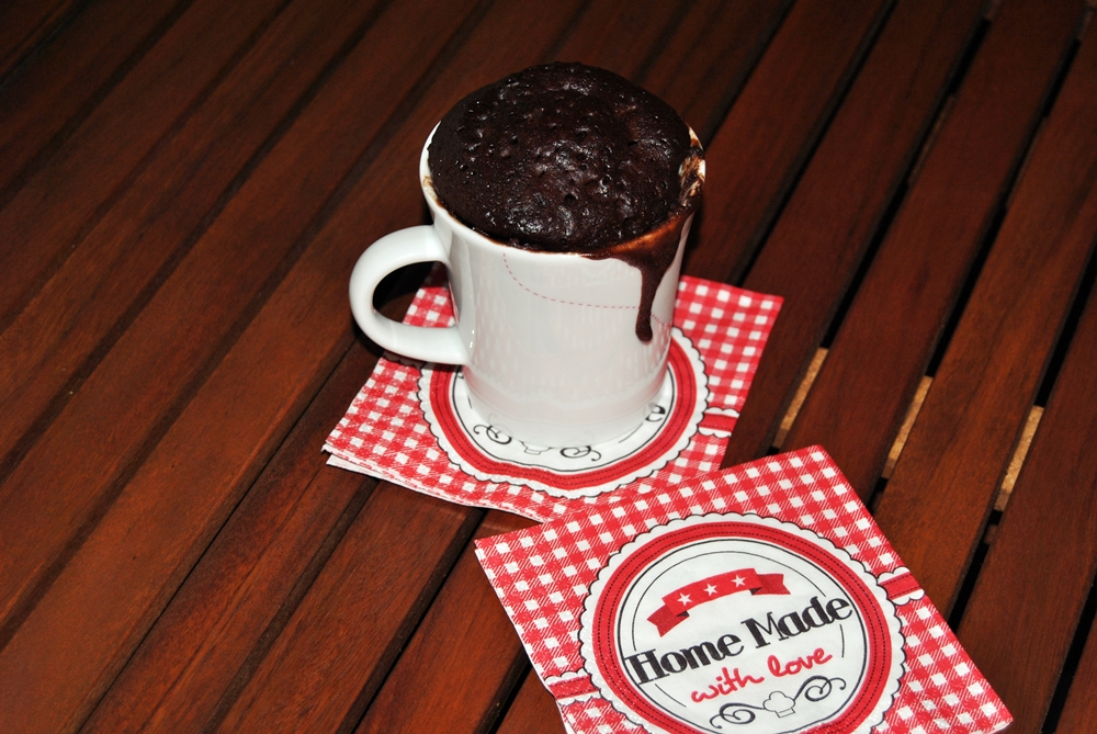 chocolate microwave mug cake quick recipe television snack