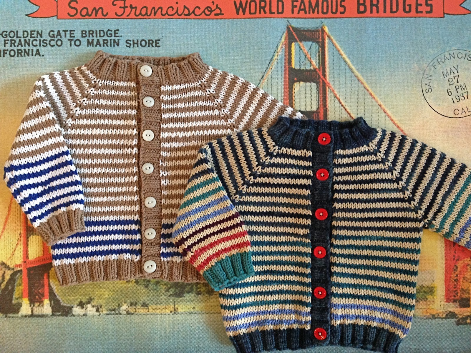 totally free/totally adorable baby cardigan - Knitionary