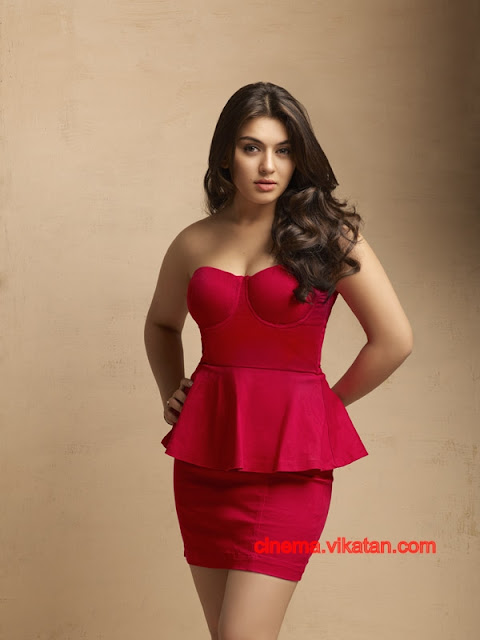 Hansika Motwani in Red HOt Dress -  Hansika Motwani Latest Hot Photoshoot Pics - 2012