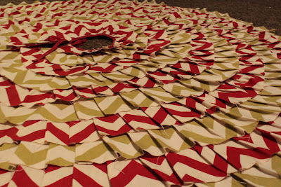 No Sew Ruffle Christmas Tree Skirt