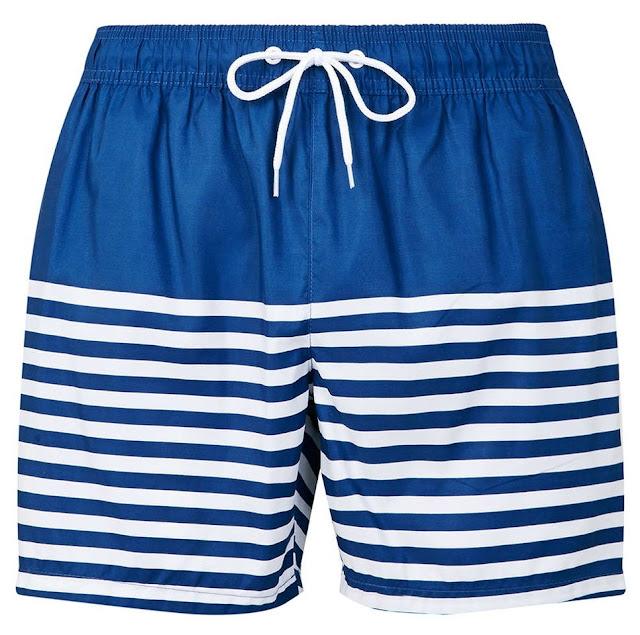 topman short de bain maillot marinière