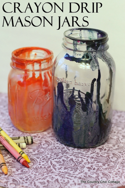 Crayon Drip Mason Jars The Country Chic Cottage