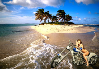 Harley Davidson Free Wallpapers Motorcycle Bikes Babes in Beautiful Island backgrounds