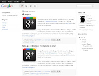 Google+ Blogger Template Screenshot