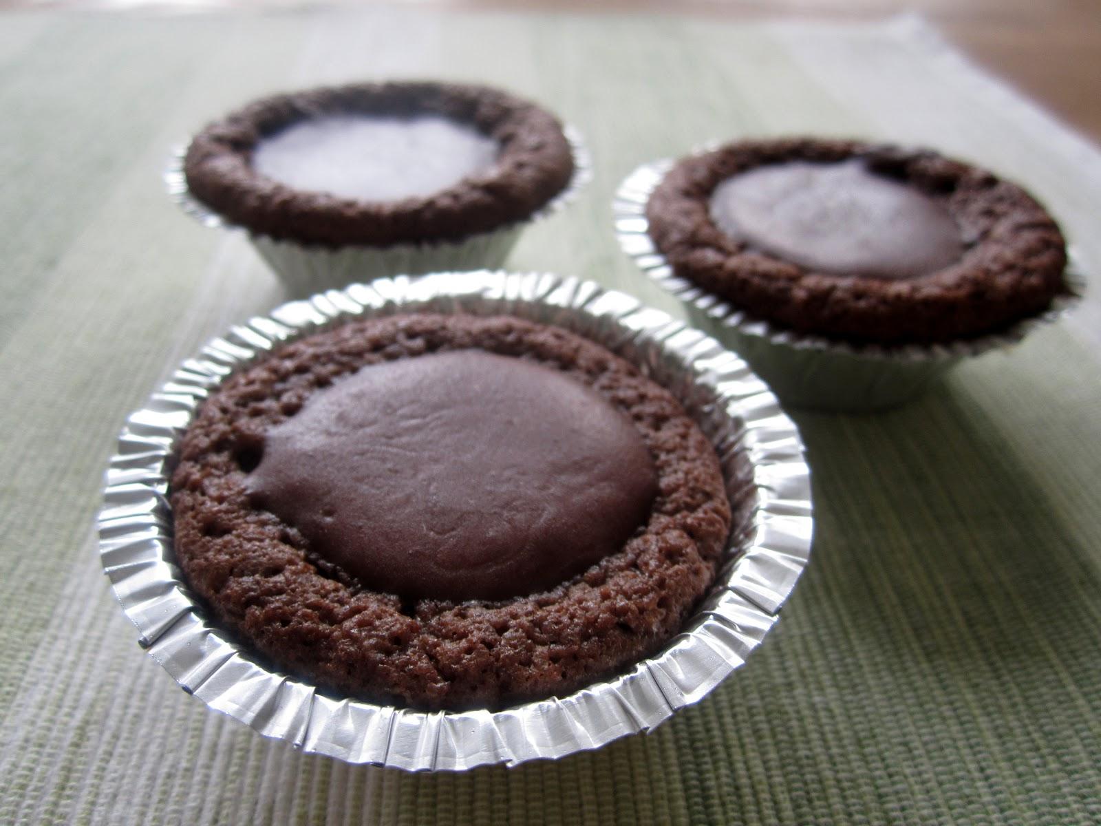 kladdkakemuffins med choklad
