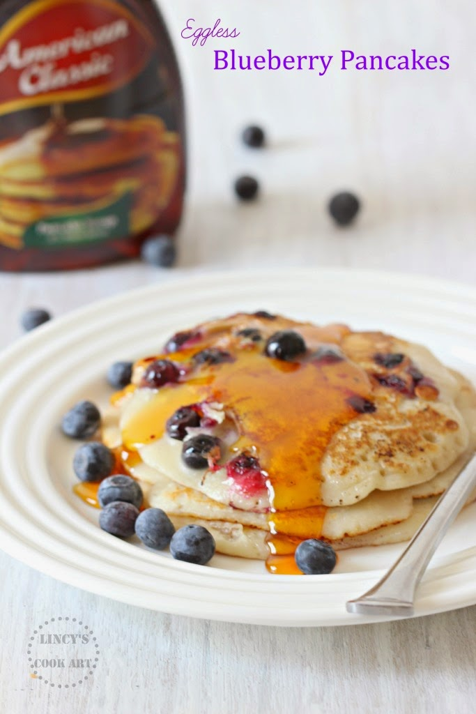 Egg less Blueberry Pancakes