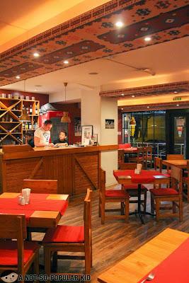 Balkan Restaurant's interior in Makati