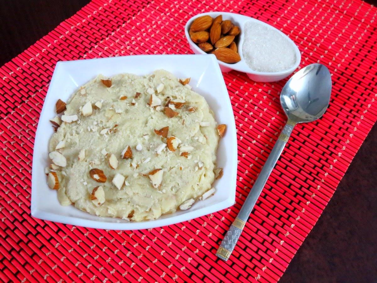 badam halwa ~ rajasthan special | how to make badam halwa | indian cooking challenge - november