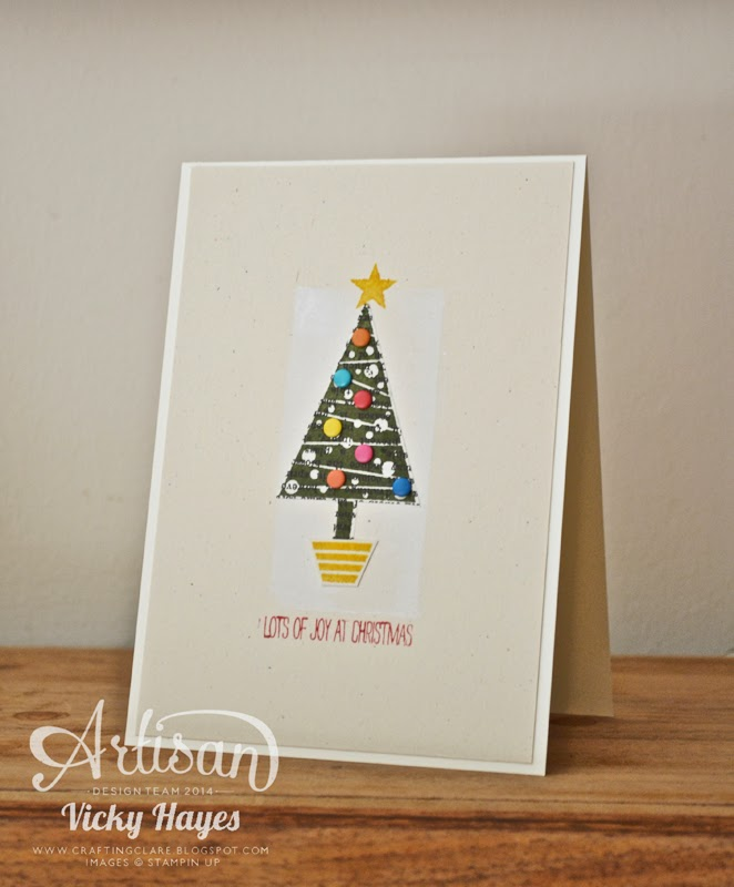 Idea for a handmade Christmas card by UK Stampin' Up demonstrator Vicky Hayes