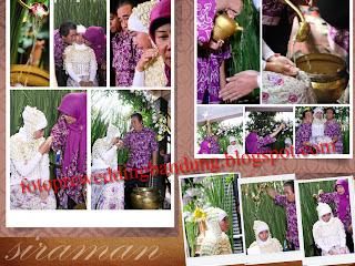 Foto kenangan acara siraman pengantin