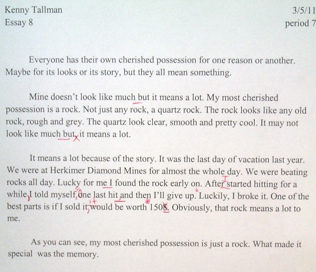 Favourite possession essay