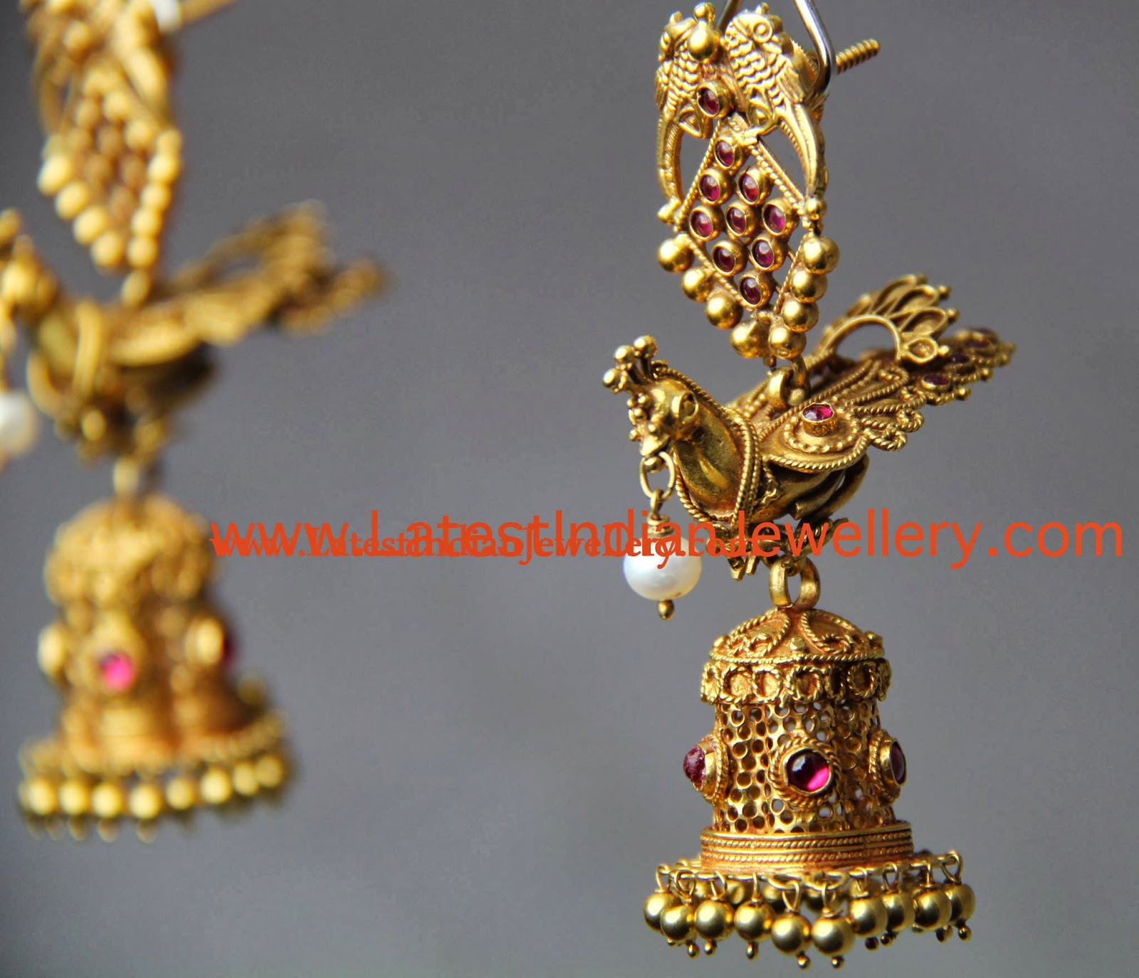 Bird Design Jhumki Earrings