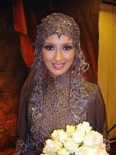 robe-hijab-pour-mariée-voilée