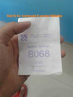 Nomor Antrian Customer Service