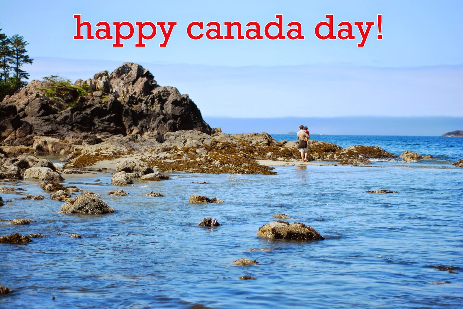 mackenzie beach in tofino british columbia. happy canada day.