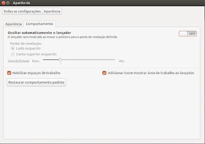 """Habilitando o ícone """"Mostrar Área de trabalho"""" no Ubuntu 13.04"""