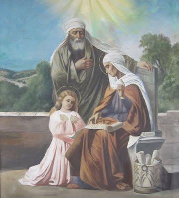 Virgen María y sus padres