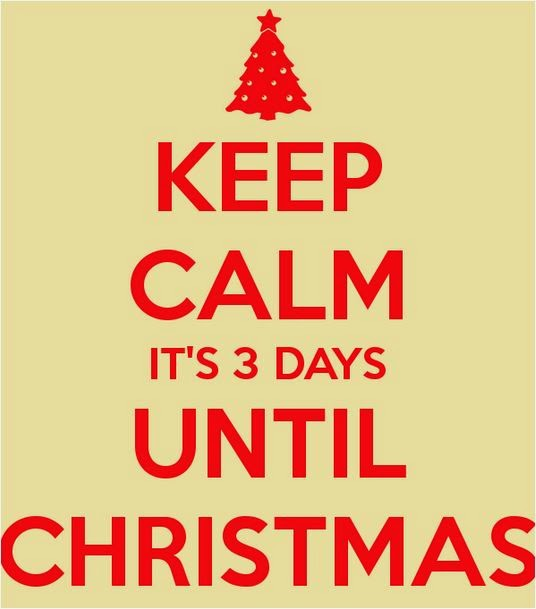 so this is christmas three days before christmas