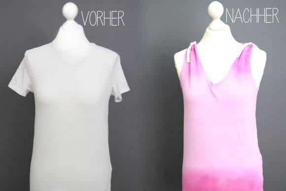 Shirt Upcycling: Aus dem zu klein gewordenen t-Shirt wird ein tolles Top