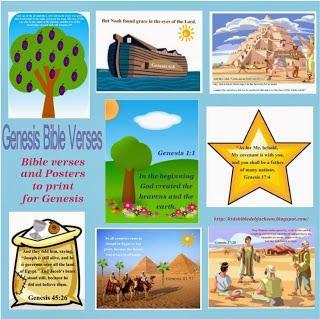 http://kidsbibledebjackson.blogspot.com/2013/06/genesis-bible-verse-printables.html