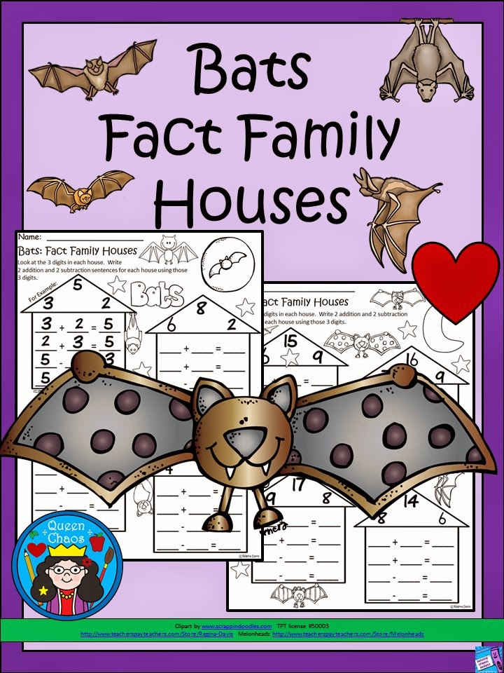 http://www.teacherspayteachers.com/Product/A-FLASH-FREEBIE-For-Followers-Bats-Fact-Family-Houses-1526355