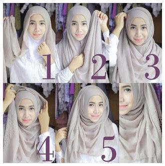 Tutorial Cara Memakai Hijab Modern Dan Modis Terbaru 2015
