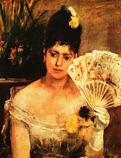 Берта Моризо. Девушка на балу. 1875.