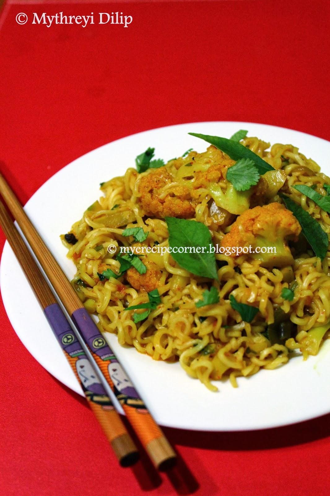 Myes kitchen gobi masala maggi noodles recipe cauliflower gobi masala maggi noodles ccuart Gallery