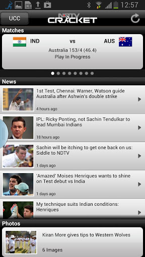 NDTV Cricket Smart Phone App