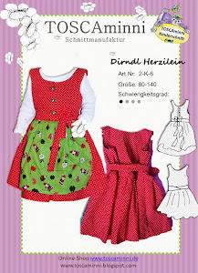 Kinderdirndl Herzilein, Schnittmuster (E-Book)