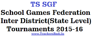 TS SGF,School Games Federation,Inter District(State Level) Tournaments