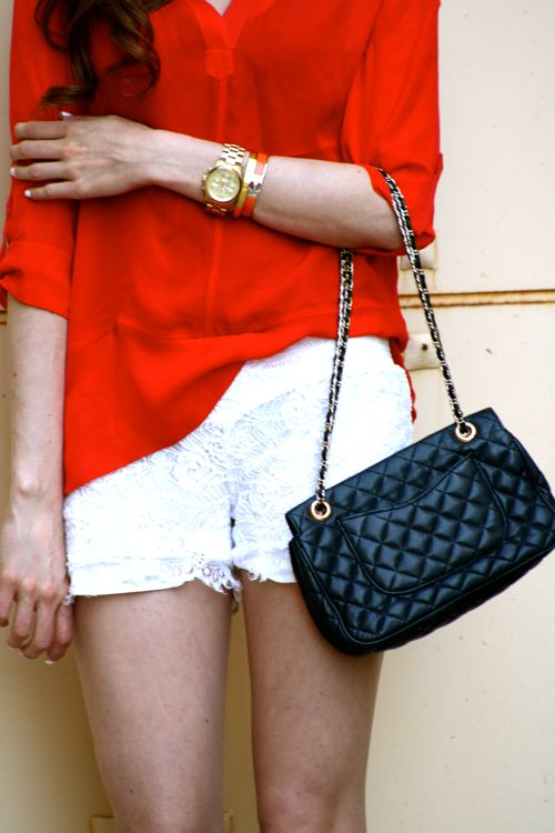 Personal Style Blogger-Lace Shorts-Spring Style-Michael Stars Top