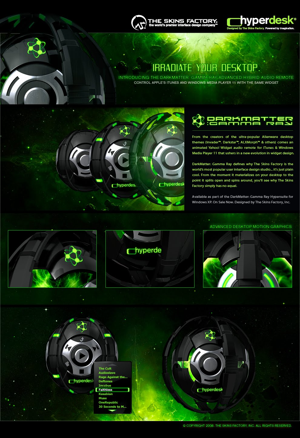 Download Darkmatter Gamma Ray Theme Skin Pack