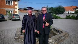 Dolha Florin si Pastorul Ioan Serban la absolvirea Seminarului Biblic Penticostal,,BETANIA,, Arad