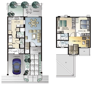 Triplex Plan 1 Townhomes Floor Plan at Prominence II at Brentville International Community