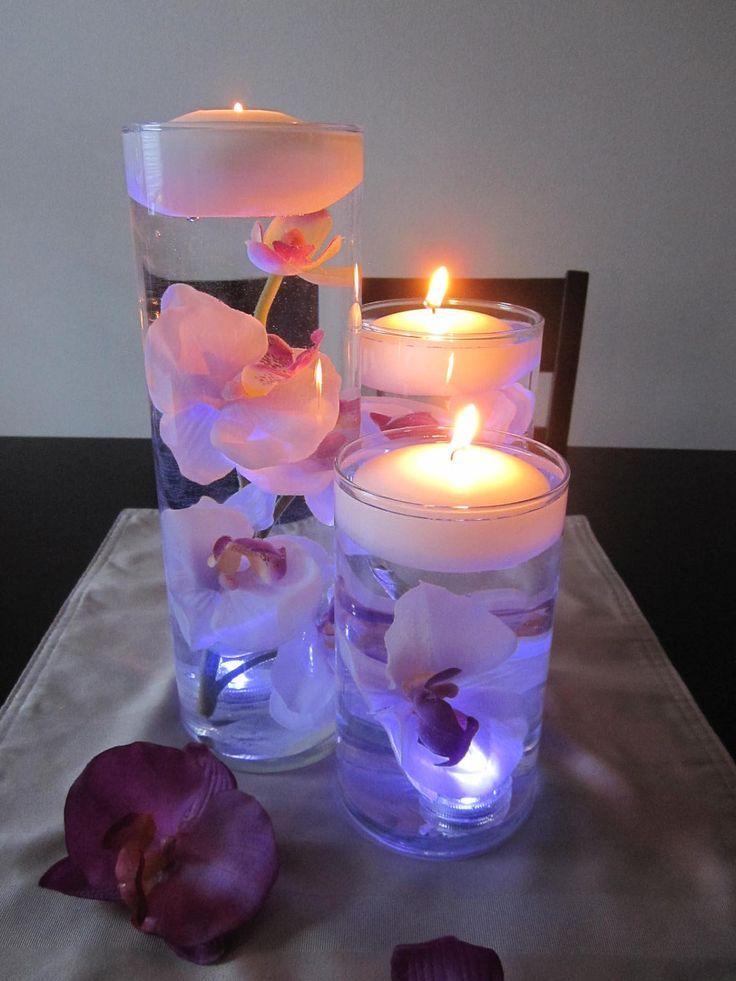 Curiosidades preciosos centros de mesa con velas flotantes - Centros con velas ...