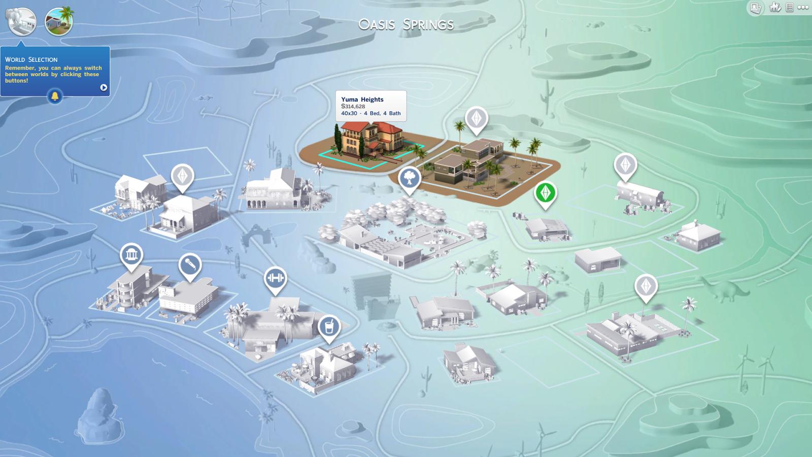 Mapa de Barrio, Edificios Decorativos y Los Mundos de Los Sims 4 14656082837_0bf88d1134_o