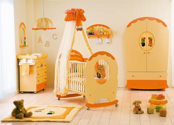 Habitación para Bebé Color Naranja | Ideas para decorar, diseñar y ...