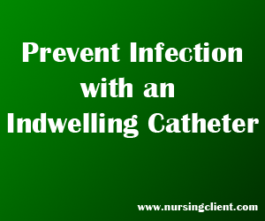 Indwelling urinary catheter