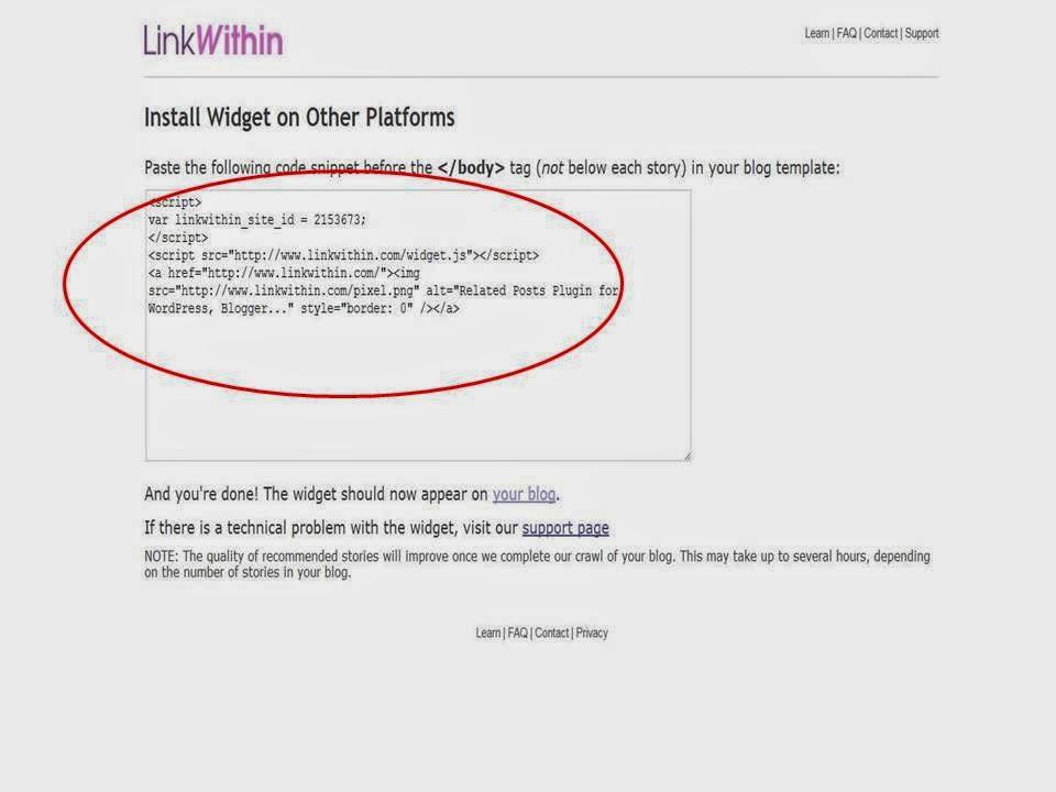 Jak dodać Link Within do bloga na bloggerze?