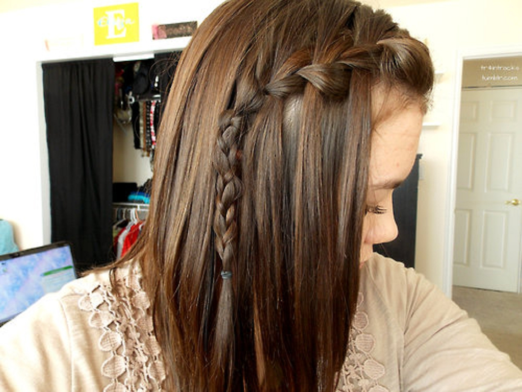 Peinado Trenza de cascada waterfall braid YouTube - Peinados Con Trenzas Cascada