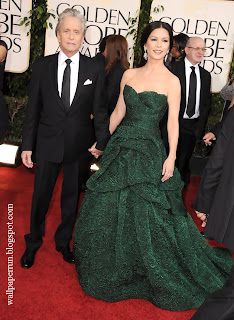 Michael Douglas and Catherine Zeta Jones attends the 68th Annual Golden Globe Awards