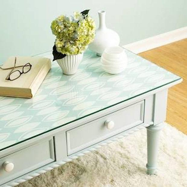 Construindo minha casa clean 17 ideias diy para decorar a - Mesa para empapelar ...